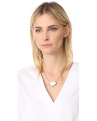 Tory Burch - Metallic Amore Heart Pendant Necklace - Lyst