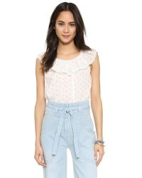 Ulla Johnson - White Edith Blouse - Lyst