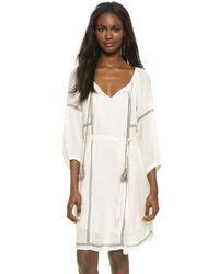 Velvet - White Cristal Embroidered Dress - Lyst