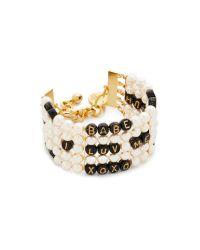 Venessa Arizaga - Metallic Whatcha Say Imitation Pearl Bracelet - Lyst