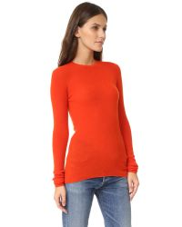 Vince - Black Long Sleeve Cashmere Sweater - Lyst