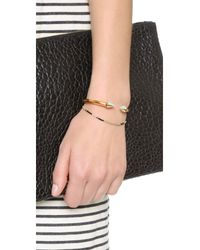 Vita Fede | Metallic Mini Titan One Side Stone Bracelet | Lyst