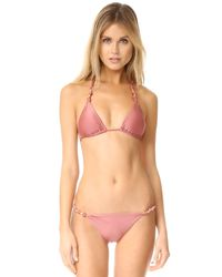 ViX | Pink Duchesse Paula Bikini Top | Lyst