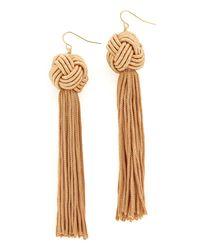 Vanessa Mooney | Multicolor The Astrid Knotted Tassel Earrings | Lyst