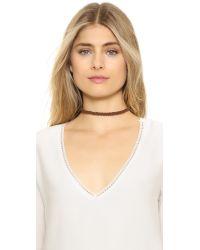 Vanessa Mooney - Brown Braided Suede Choker Necklace - Lyst