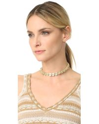 Vanessa Mooney - Metallic The Di Rosa Choker Necklace - Lyst