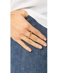 WALTERS FAITH - Metallic Saxon Thick Chain Link Ring - Lyst