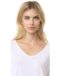 Jennifer Zeuner   Metallic Small Open Circle Necklace   Lyst