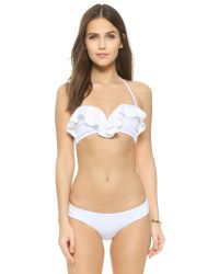 Zimmermann | White Separates Frill Bandeau Bikini Top | Lyst