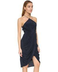 Zimmermann - Blue Silk Tuck Dress - Lyst