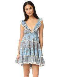 Zimmermann | Blue Caravan Tiered Sun Dress | Lyst
