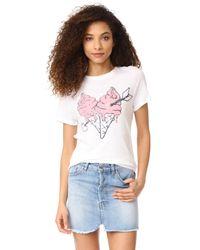 Zoe Karssen | White Ice Cream Heart Tee | Lyst