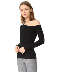 Getting Back to Square One - Black One Shoulder Pullover - Lyst