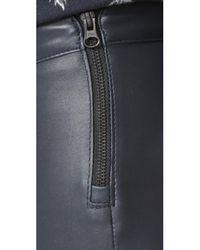Mackage - Blue Navi Leather Pants - Lyst