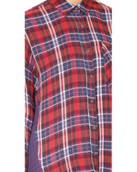 Free People - Red One Of The Guys Button Down - Lyst