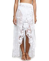 Miguelina - White Valencia Wrap Skirt - Lyst