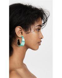 Alexis Bittar - Green Graduated Hoop Earrings - Lyst