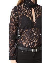 Cynthia Rowley - Black Lace Top - Lyst
