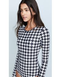 Cover - Black Houndstooth Long Sleeve Swimsuit - Lyst