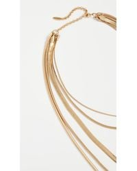 Luv Aj - Metallic The Cascading Snake Chain Necklace - Lyst