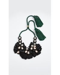 Lizzie Fortunato | Black Moonlight Bib Necklace | Lyst