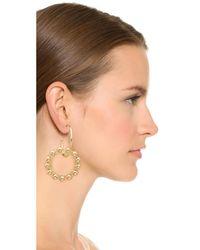 DANNIJO - Metallic Fawn Earrings - Lyst
