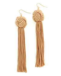 Vanessa Mooney | Multicolor The Astrid Knotted Tassel Earrings | Lyst