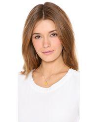 Kate Spade - Metallic Letter Pendant Necklace - Lyst