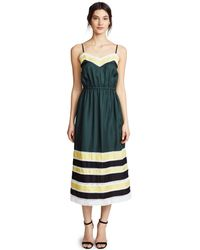 Robert Rodriguez - Green Silk Slip Dress - Lyst