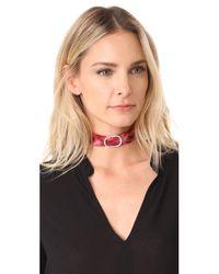 DANNIJO - Red Bardot Choker Necklace - Lyst