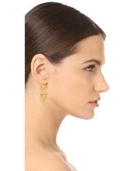 Noir Jewelry - Metallic Aztec Earrings - Lyst