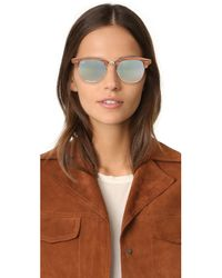 Ray-Ban - Multicolor Wood Clubmaster Flash Sunglasses - Lyst