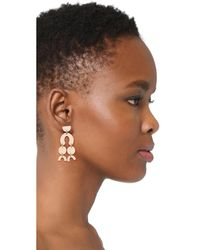 Shashi | Metallic Aliyah Earrings | Lyst