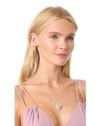 Sasha Samuel | Metallic Single Star Heart Locket Necklace | Lyst