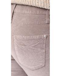 James Jeans - Gray Velveteen Mid Rise Legging Jeans - Lyst