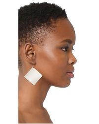 Kenneth Jay Lane - Metallic Geometric Earrings - Lyst