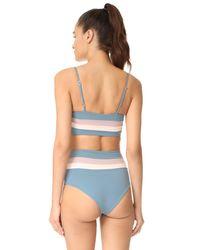 L*Space - Blue Reversible Rebel Stripe Bikini Top - Lyst