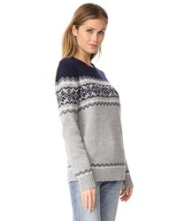 Penfield - Gray Heywood Knit Sweater - Lyst