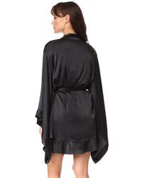 Nudwear - Black Silk Kimono Robe - Lyst