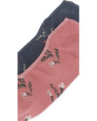 Madewell - Multicolor Floral Pattern No Show Sock 2 Pack - Lyst