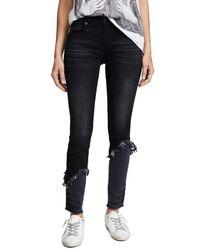 R13 - Blue Alison Double Shredded Skinny Jeans - Lyst