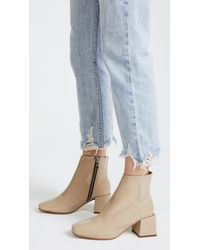 LOQ - Natural Lazaro Square Toe Booties - Lyst