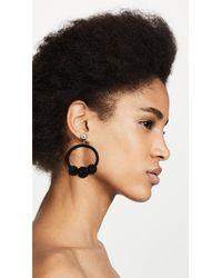 Kate Spade - Black The Bead Goes On Hoop Statement Earrings - Lyst