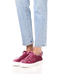 Opening Ceremony - Multicolor Cici Velvet Ruffle Slip On Sneakers - Lyst