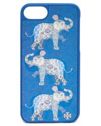 Tory Burch - Blue Hologram Elephant Hardshell Iphone 7 Case - Lyst