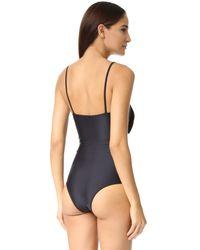 Lolli - Black Cake Walk One Piece Swimsuit - Lyst