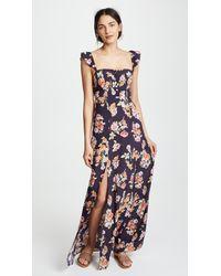 Flynn Skye - Blue Bardot Maxi Dress - Lyst