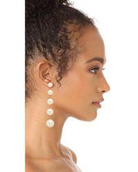 Kate Spade | Multicolor Girly Pearly Linear Earrings | Lyst