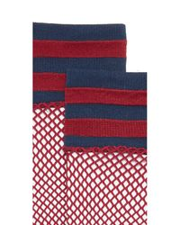 Free People | Red Riot Sport Fishnet Socks | Lyst