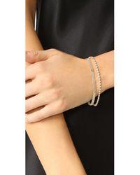 Ariel Gordon - Metallic Diamond Tennis Bracelet - Lyst